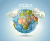 Svět pozadí v origami stylu. vektorové pozadí. EPS 10