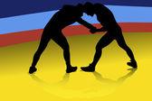 Birkózás A fizikai verseny két versenytárs között
