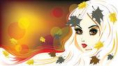 őszi lány fehér haj