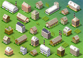 Detailed illustration of a Set of Isometric Building in Sprin