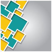 Absztrakt 3d tér háttér, színes lapok, geometriai, vektor illusztráció