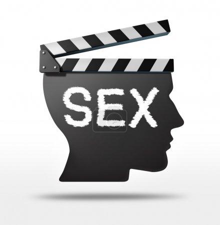Постер, плакат: Sex movies, холст на подрамнике