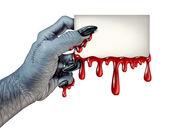 Zombie krev karta