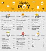Velká sada designu menu restaurace a kavárna