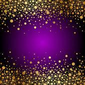 Vector sfondo porpora e oro di lusso
