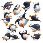 Постер, плакат: Funny penguins