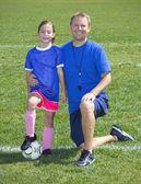 Fotbalový trenér a hráč portrét fotbal