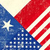 Texas and USA grunge Flag
