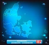 Mapa Dánska
