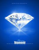 Diamant na modrém pozadí
