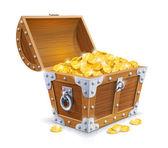 Ročník truhlu s zlaté mince