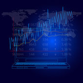Abstract background of a stockmarket graph