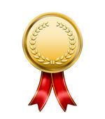 Vector Award Medal Rosette Label isolated on white background