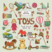 Happy birthday toys set: pinwheel balloon elephant horse
