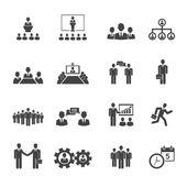 Menschen treffen und Konferenzen Symbole