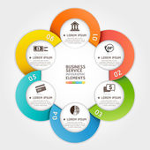 Modern business service circle origami style Vector illustration can be used for workflow layout diagram number options banner step up options web design infographics