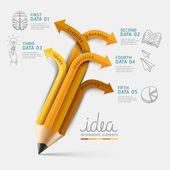 Vzdělávání tužka infografika