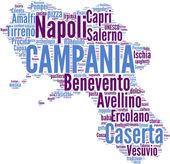 Tagcloud Campania Olaszország régiók