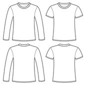 Long-sleeved T-shirt and T-shirt template Vector illustration