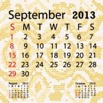Постер, плакат: September 2013 calendar albino snake skin