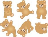 Scalable vectorial image representing a cute baby teddy bear isolated on white