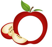 Scalable vectorial image representing a apple photo frame isolated on white