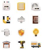Ház felújítása ikon készlet. 2. rész
