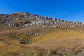 Kamenité kopce krajina