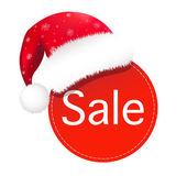 Christmas Speech Bubble With Santa Claus Hat Vector Illustration