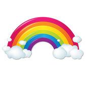 Színes Rainbow felhők