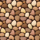 Varrat nélküli textúra kövekkel. vektoros illusztráció