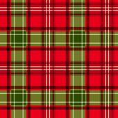 Vector seamless background with Christmas red and green tartan fabric