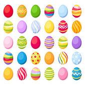 Húsvét színes tojások. vektoros illusztráció