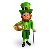 Leprechaun  with golden pot