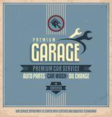 Auto service vintage poster design