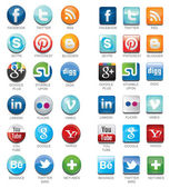 Social network icons with names