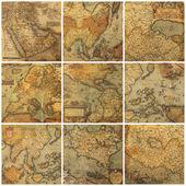 Staré mapy koláž