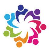 Týmová práce Unie logo vektor