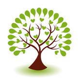 Vektor loga abstraktní strom
