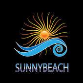 Sunny beach company design vector logo