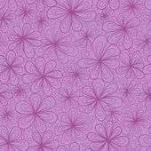 Stylized vector doodle flowers