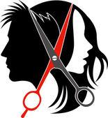 Illustration art of salon concept logo on isolated background