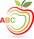 Illustration art of a apple logo with isolated background