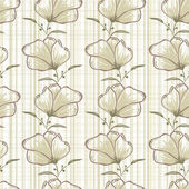 Seamless vector background with brown flowers