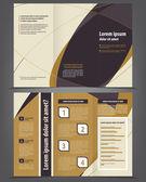 Trojí obchodní brožura