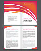 Two-fold beauty red brochure print template
