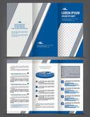 Template-Design mit blauen und grauen Elementen