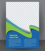 časopis, leták, brožura a kryt rozložení šablony návrhu, vektorové ilustrace