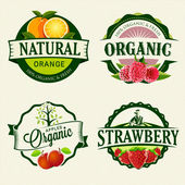 Set of retro Fresh & Organic labels