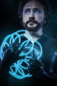 Fantasy és science fiction, futurisztikus, feketébe öltözött katona